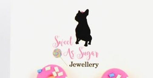 Sweet As Sugar - Sprinkled Pink Donut Stud Earrings