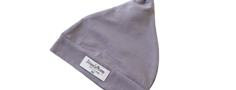 Snuggle Hunny - Grey Knotted Beanie