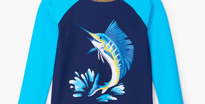 Hatley -Game Fish Long Sleeve Rashguard