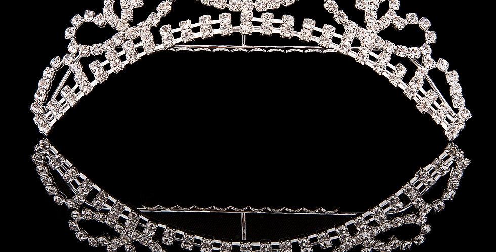 Mad Ally - Medium Crystal Tiara Silver