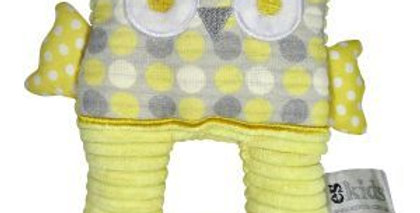 Es Kids - Owl Ring Rattle Yellow Spot