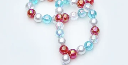 Sweet As Sugar -Christmas Snow Flake Beaded Necklace