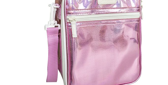Sachi - Insulated Junior Pink Sparkle Lunch Tote