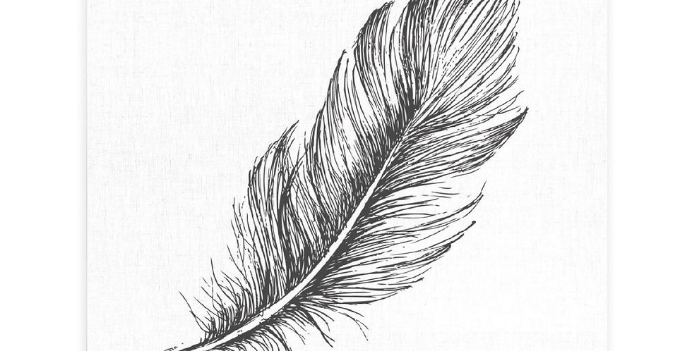 Splosh - Tranquil Feather Print Ceramic Coaster