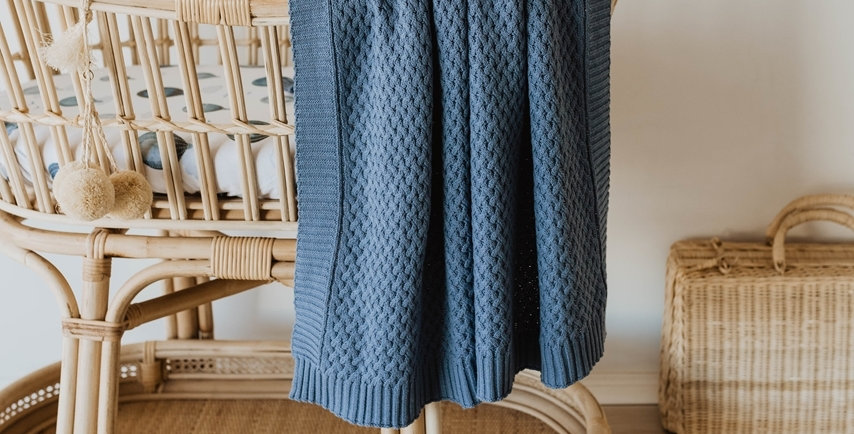 Snuggle Hunny - River  Diamond Knit Baby Blanket