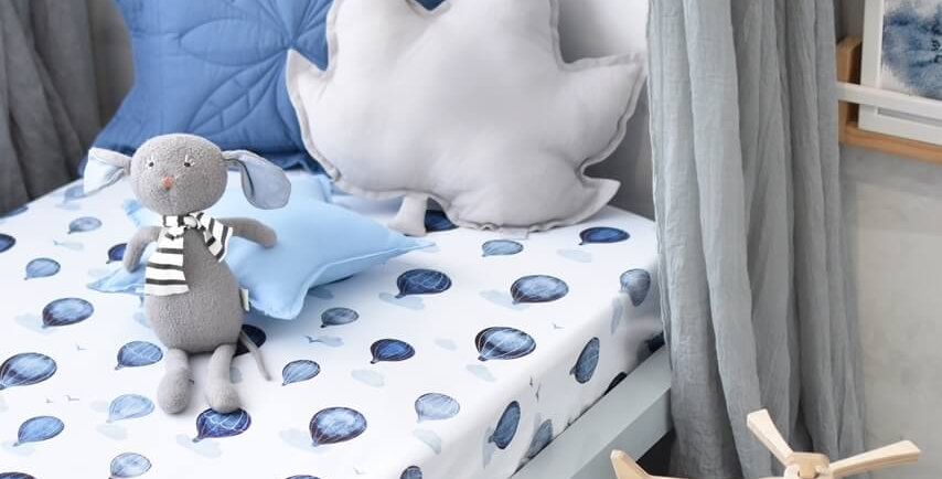 Snuggly Hunny -  Cloud Chaser  Fitted Cot Sheet