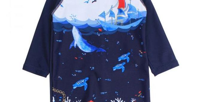 Mini Haha - Cory Ocean Sunsuit