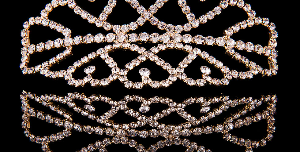 Mad Ally - Medium Double Tiara Gold