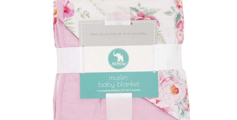 All4Ella - Muslin Blanket - Floral