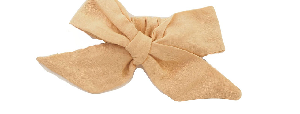 Snuggly Hunny - SunKiss Linen Bow Pre-Tied Headband Wrap