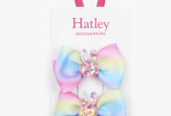 Hatley - Glitter Bunny Hair Clips
