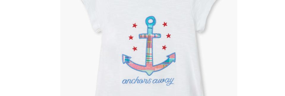 Hatley - Nautical Anchor Tie Back Tee