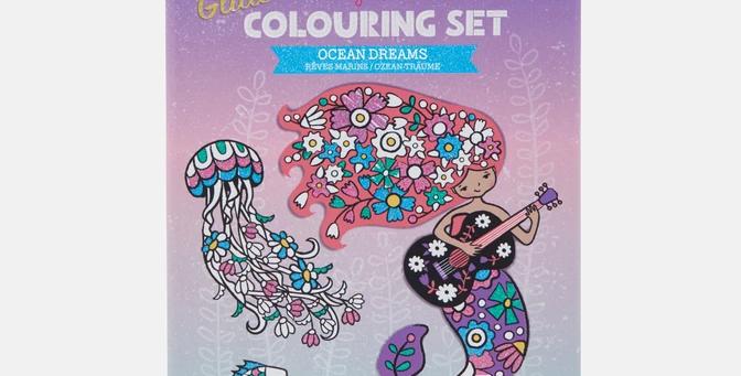 Tiger Tribe - Glitter Colouring Set Ocean Dreams