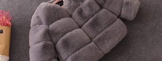 Furr Coat - Grey