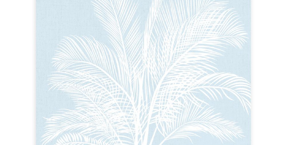 Tranquil Blue Palm Ceramic Coaster