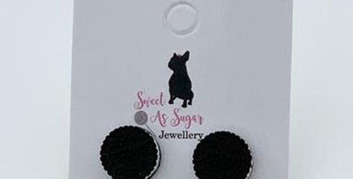 Sweet As Sugar - Cookies & Cream Stud Earrings