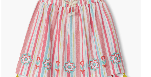 Hatley - Pink Lemonade Tassel Skirt