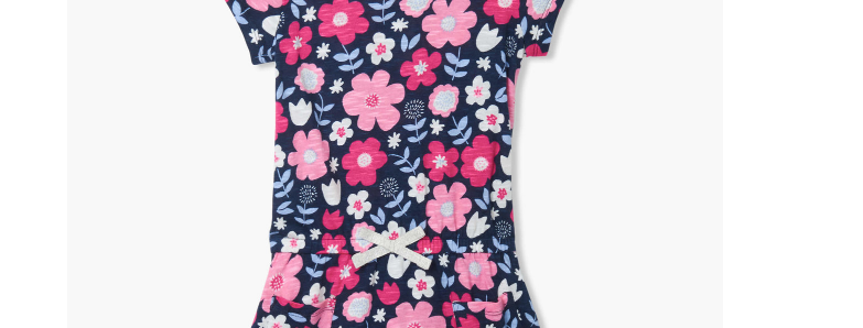 Hatley - Folk Florals Front Pocket Drop Waist Dress