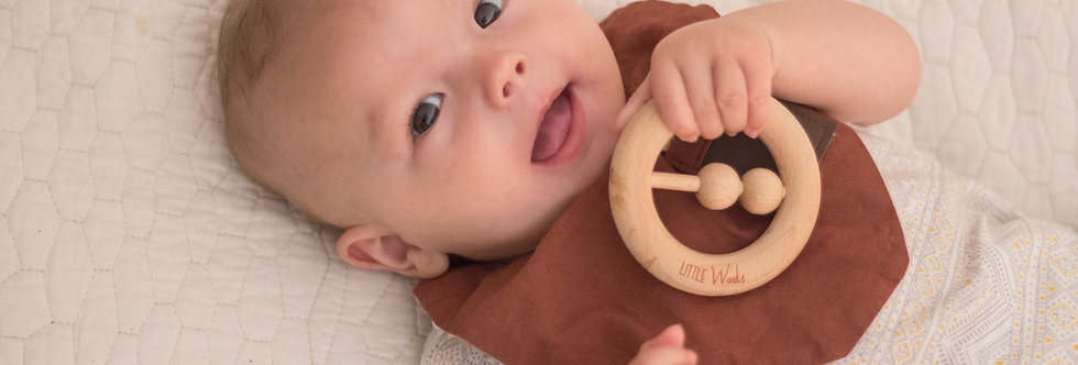 Little Woods - BEECHWOOD WOODEN RATTLE & TEETHER
