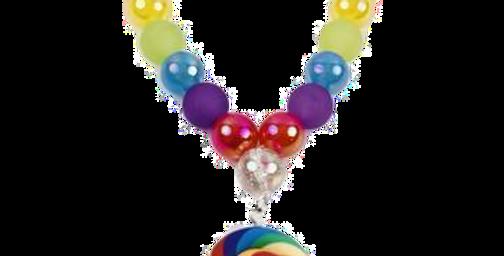 Sweet As Sugar Jewellery -  Lollipop Beaded Necklace