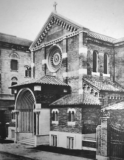 The second Holy Trinity Church in the Via Romagna in a picture from about 1922.