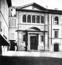 The first Holy Trinity church in a late 19th century photograph.