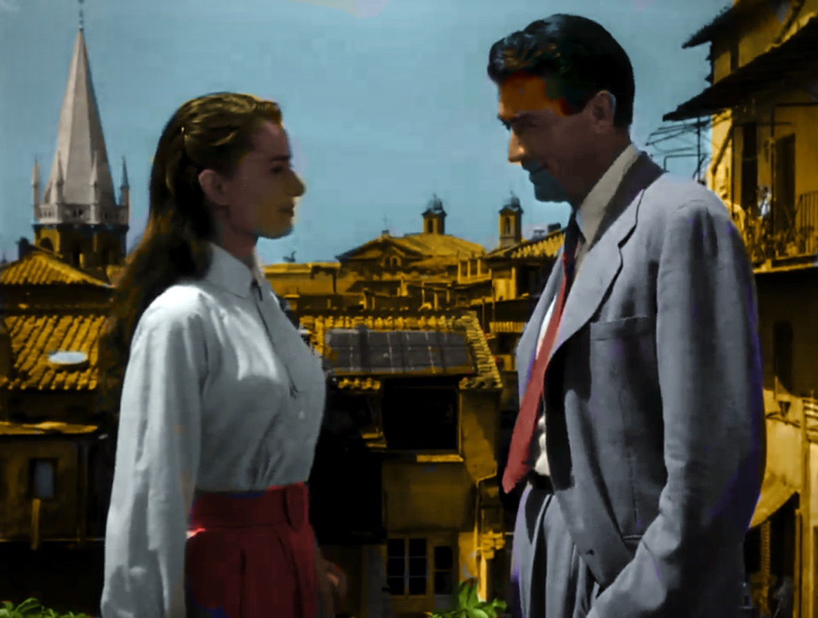"All Saints' featuring in ""Roman Holiday"" with Audrey Hepburn and Gregory Peck."