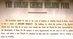 """Detail of the """"English Church Building Fund Appeal"""" from 1880."""
