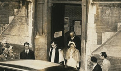 Princess Margaret, a regular worshipper at All Saints', after worship in the late 1950s.