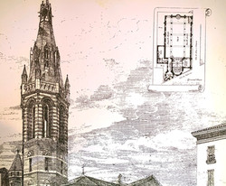 Detail of G. E. Street's original project for All Saints'.