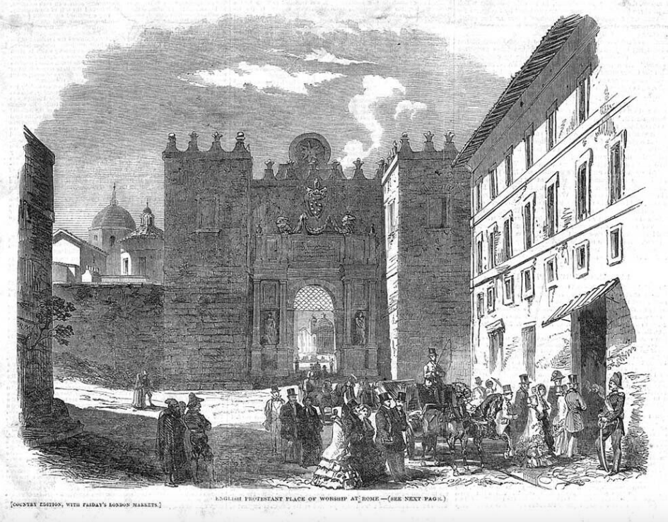 "The Granary Chapel in Rome from ""The London Illustrated News"", 1851."