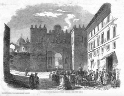 """The Granary Chapel in Rome from """"The London Illustrated News"""", 1851."""
