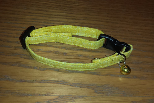 Yellow Cat Break-a-way Collar