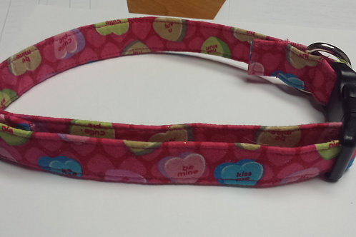 Valentine's Day Candy Hearts Buckle Collar