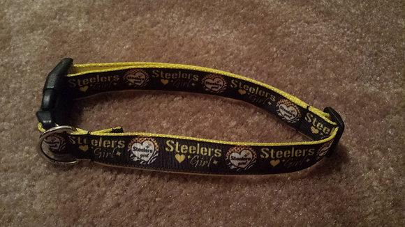 Pittsburgh Steelers Girl Buckle Collar