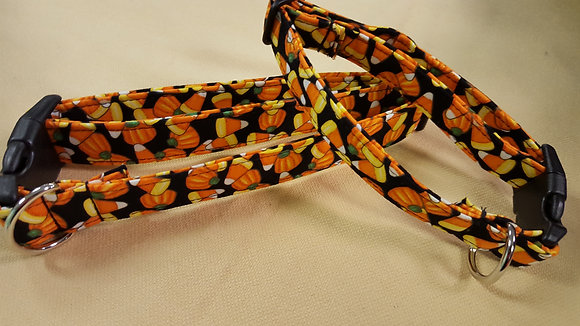 Halloween Candy Corn &Pumpkins Buckle Collar