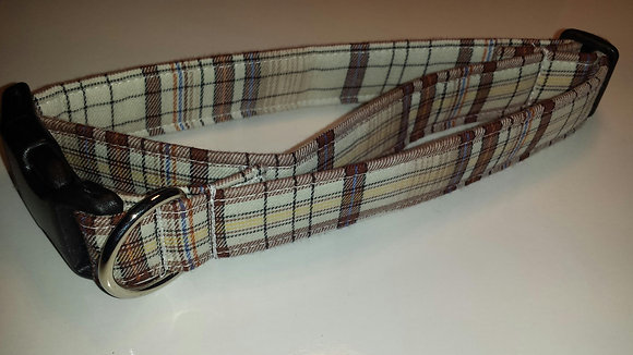 Fall Plaid Buckle Collar