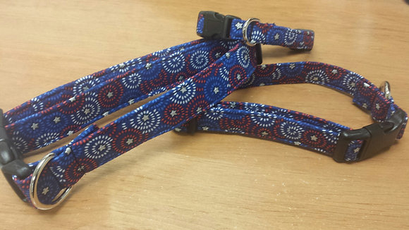 Red, White, & Blue Swirl Buckle Collar