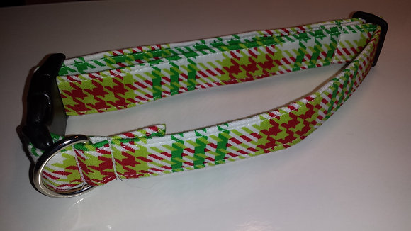 Christmas Plaid Buckle Collar