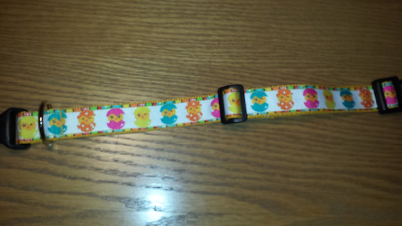 Easter Chics in Eggs Buckle Collar