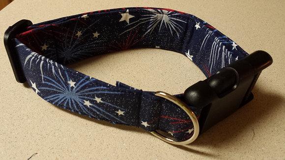 Glitter Firework Buckle Collar