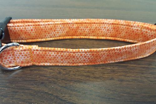 Orange Dots Buckle Collar