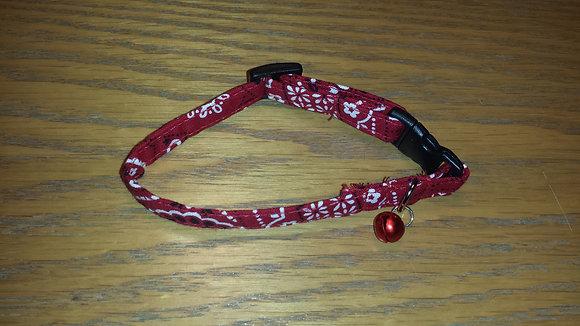 Red Bandana Cat Break-a-way Collar
