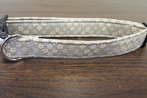 Beige with Flowers Buckle Collar