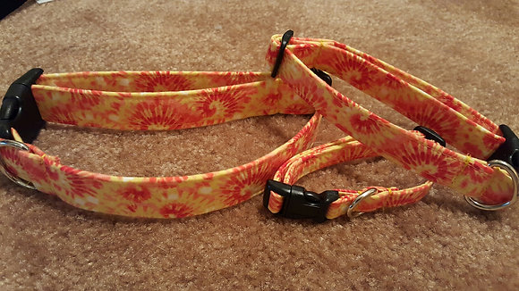 Orange/Yellow Tie Dye Buckle Collar