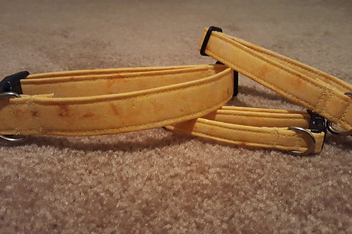 Yellow with Glitter Buckle Collar