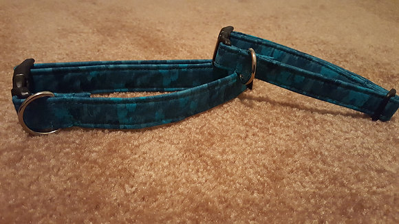 Teal Variegated Buckle Collar