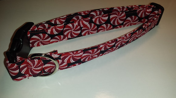 Christmas Peppermint Candy Buckle Collar