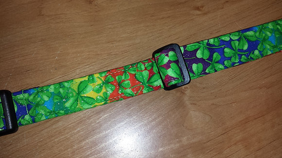 St. Patty's Rainbow Shamrock Buckle Collar