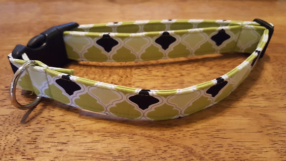 Green & Black Buckle Collar